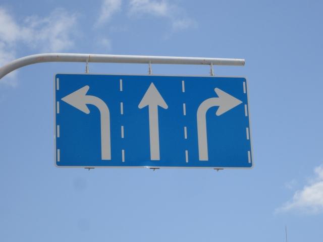 道路標識(岐路)