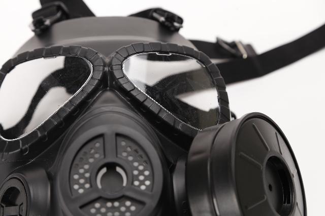 危険から身を守るためのガスマスク