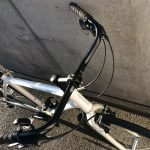 ポタリング用クロスバイクにプロムナードバーハンドルへ交換
